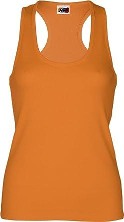 Emilio Fernández Camiseta Tirante Espalda NADADORA 100% ALGODÓN Naranja: Amazon.es: Ropa y accesorios