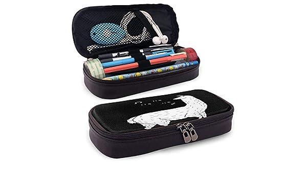 Estuche de piel con diseño de canción de la llama, gran capacidad, bolsa de almacenamiento, con cremallera, para la escuela/oficina y viaje: Amazon.es: Oficina y papelería