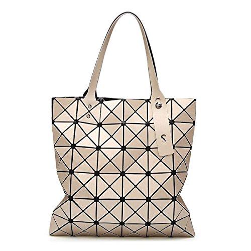 Bolso Geométrico Para Mujer Bolsa De Diamantes Plegable Tendencia Del Bolso Del Bolso De Hombro,Brown