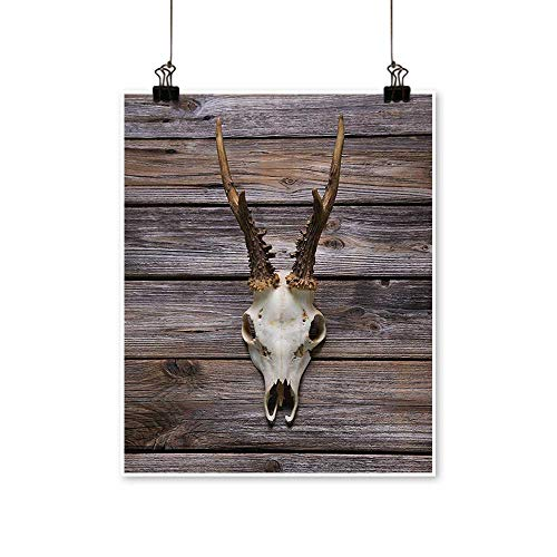 Modern Painting Rustic Antler Wooden Wall Wintertime Mountain Hut Country Style Rusticati Artwork for Home Decorations,12