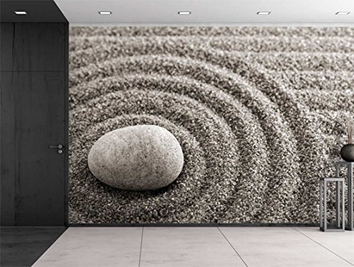 Rock Over a Rippled Sand Effect Wall Mural