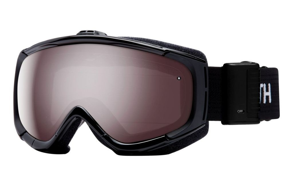 Smith Optics Phenom Turbo Fan Adult Turbo Fan Series Snocross Snowmobile Goggles Eyewear - Black / Ignitor Mirror / Medium