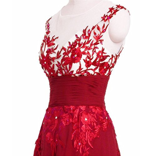 Young Kleid Retro Rot Faltenkleid Dot June's Kleid ärmelloses bodenlanges Kleid Polka Damen Stil ZwEqqTd