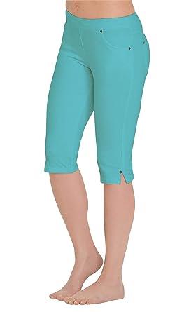 5c0632c0e PajamaJeans Womens Capris Comfy Stretchy - Pedal Pushers, Aqua, X-Small / 0