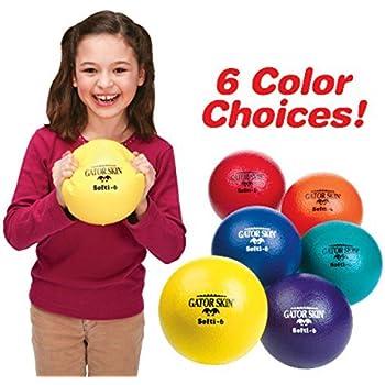 "S&S Worldwide 6"" Gator Skin Softi Ball-Yellow - Single Ball"