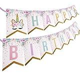 PojoTech Unicorn Happy Birthday Banner Party Decorations Supplies