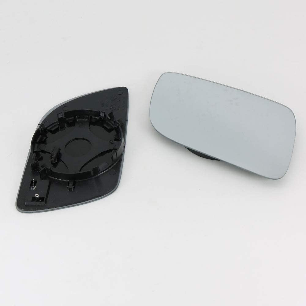 NAWQK 2Pcs Car Mirror Glass Fit For VW Fit For Polo 2002 2003 2004 2005 Heated Wing Side Mirror Glass