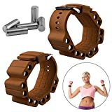 Wrist Weights, Adjustable Fitness Wearable Weighted Wristbands to Increase Arm & Leg Explosiveness and Endurance Training for Dance Barre Pilates Bounce Yoga Cardio Walking and Home Exercise (Coffee)