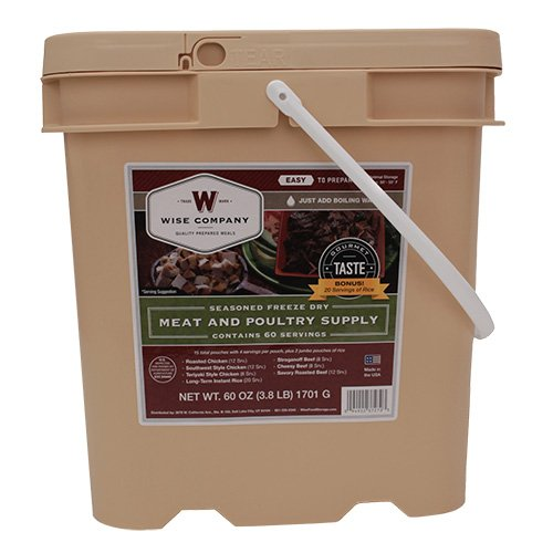 WISE FOODS 07-702 WISE FOODS 07-702 Protein/AllMeat+20SrvngRice G&GBckt 60Srv by Wise