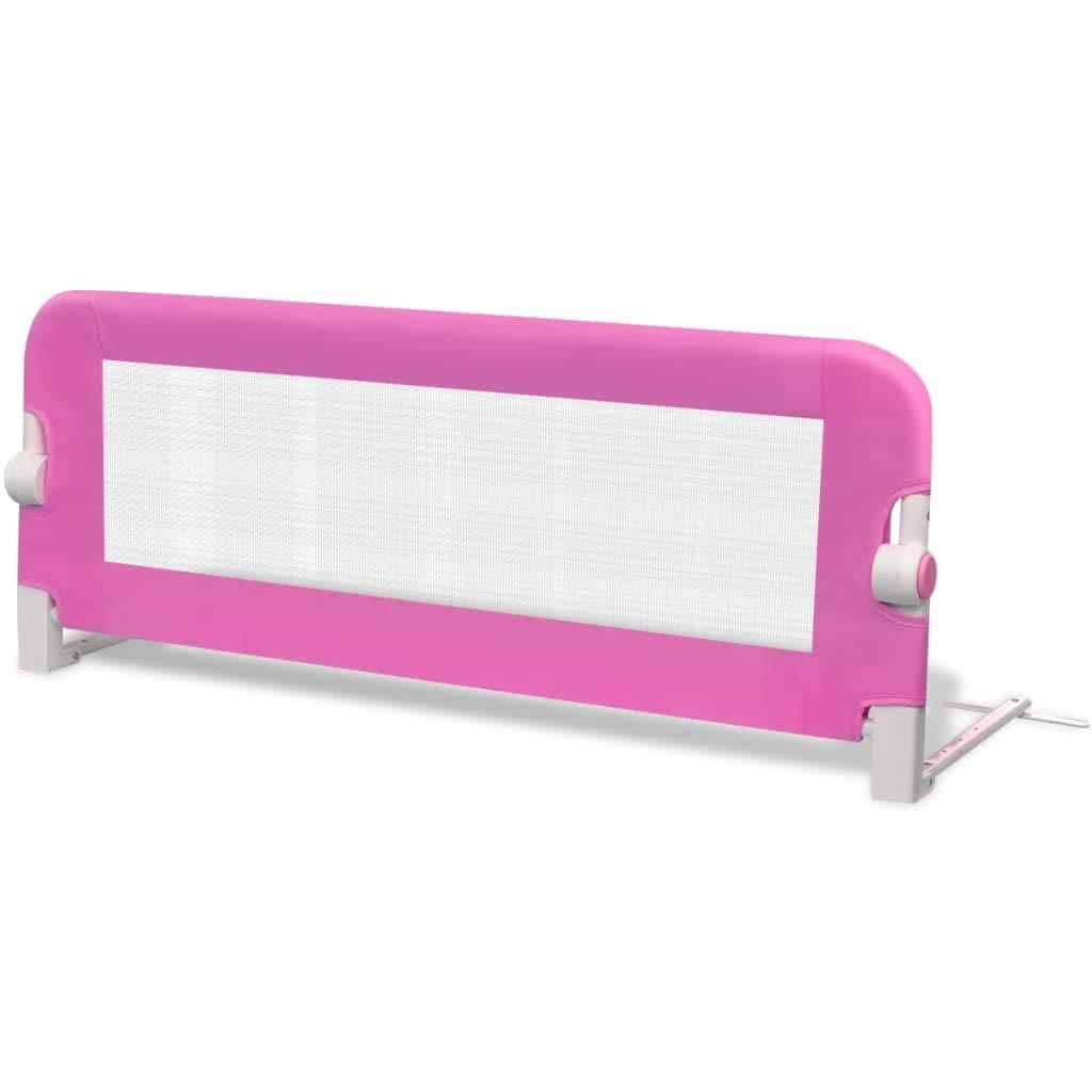Barra de Seguridad Barandillas de Cama de ni/ño Rosa 102 x 36,5 x 42 cm Festnight
