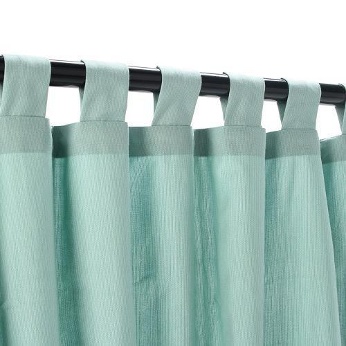 Sunbrella Outdoor Curtain with Tab Top - Mist, 50x120 by Sunbrella by Sunbrella