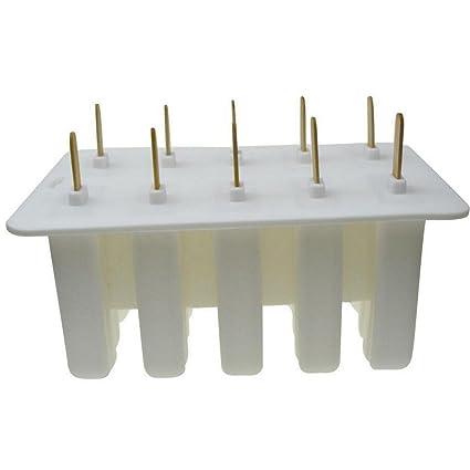 Valink, molde de gel silicona para helado, de 10 celdas. Molde de palo
