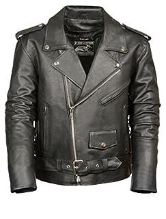 Event Biker Leather Men's Basic Motorcycle Jacket with Pockets (Black, Large) (B00XRDYGZ2) | Amazon Products