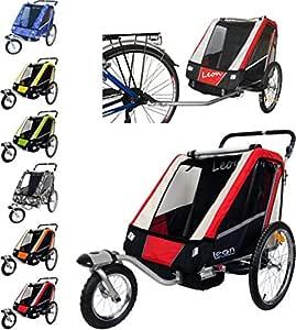 Papilioshop Leon Remorque à vélo Poussette Chariot pour 1 ou 2 ...