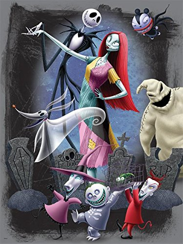 Ceaco Disney Tim Burtons The Nightmare Before Christmas Halloween Party Jigsaw Puzzle, 300 Pieces