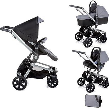 Nurse Town 3 Pro - Sistema modular de silla de paseo y capazo, color negro