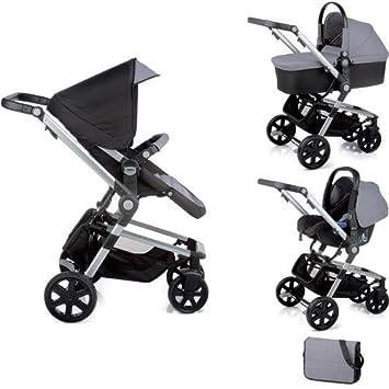 Nurse Town 3 Pro - Sistema modular de silla de paseo y capazo, color negro/antracita: Amazon.es: Bebé