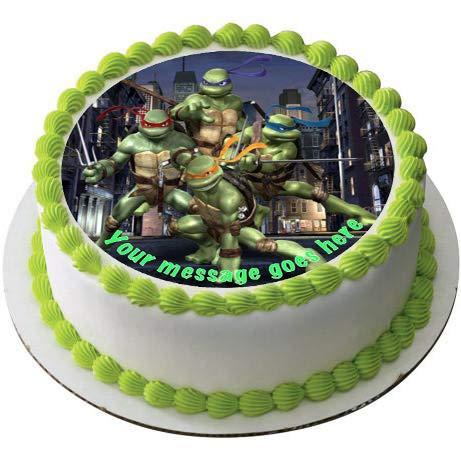 Ninja Turtles - Decoración comestible para tarta (19 cm ...