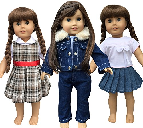 In-style American Girl Doll Clothes Accessories fits Our Generation dolls, Journey Girls and 18-inch dolls (American Jumper Doll Girl)