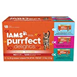 IAMS PURRFECT DELIGHTS Flaked Adult Wet Cat Food - Variety Pack Seafood - 3 oz. (Pack of 18)