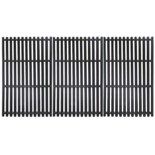 G533-0009-W1A 17 Inch Grates for Charbroil 463276016, 463242715, 463242716, Walmart # 555179228, 466242715, 466242815 Tru-Infrared 4 Burner Grills - Matte Enamel Cast Iron 17 X 28 1/2
