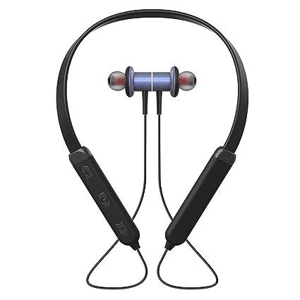 lennonsi Auriculares inalámbricos Bluetooth 4.2 Auriculares estéreo deportivos con doble cuello para el oído