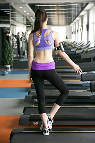 INIBUD - Sujetador deportivo para mujer, acolchado, sin aros, con espalda estilo nadadora, buena sujeción, ideal para gimnasio y actividades deportivas, yoga, running, fitness, etc. morado