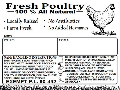 Poultry Freezer Labels 4