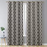 eclipse curtains target HLC.ME Lattice Print Thermal Insulated Blackout Room Darkening Energy Efficient Window Curtain Grommet Panels - Set of 2 - 52