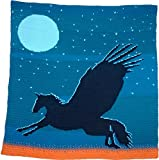 Crochet Picture Blanket: Winged Horse at Dusk