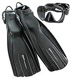 Mares Avanti Quattro Plus Adjustable Heel Strap Fins with Dive Mask review