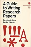 A Guide to Writing Research Papers 9780070050297