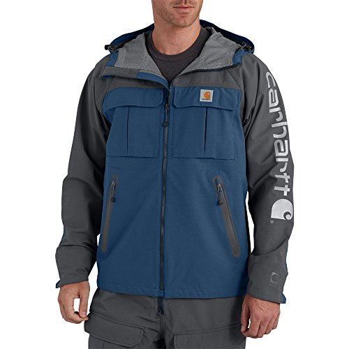Carhartt Men's 102407 Force Extremes™ Shoreline Angler Jacket - 2X-Large Regular - Dark Blue