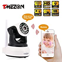 TMEZON 1080P Wifi Security Camera 2.0 MP Smart Home Wireless IP Camera for Android/iOS/iPhone/iPad/Tablet