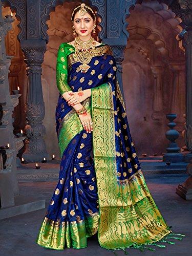 537421e99 ELINA FASHION Sarees for Women Banarasi Art Silk Woven Work Saree l Indian  Wedding Ethnic Wear