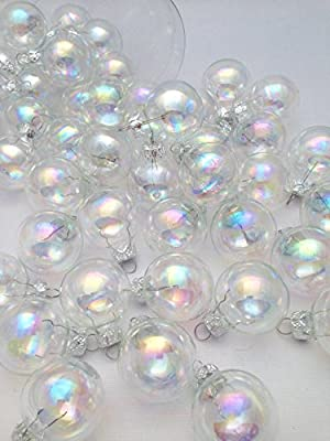 45 Pc Rainbow Bubble Irisdescent Decorative Hanging Ornaments Indoors Glass Xmas Christmas Tree Decor Ball Bauble Hanging Party Home