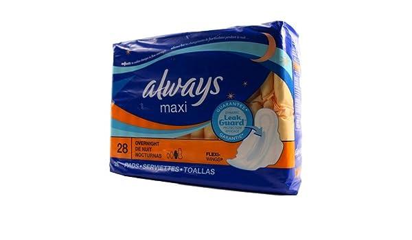 Amazon.com: Always Maxi Leak Guard Plus Regular With Odor Lock 22-Count: Health & Personal Care