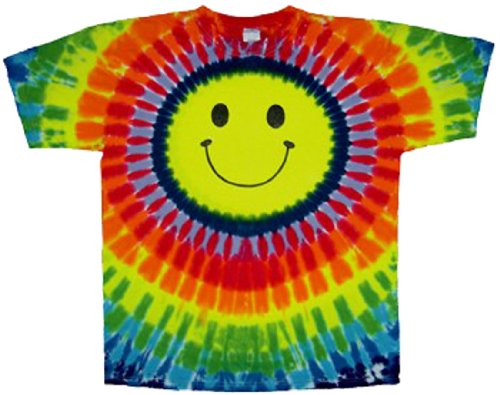 Rainbow Smiley Face Tie Dye T-Shirt