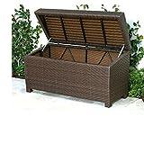 Wicker Storage Bench Outdoor Ottoman Patio Deck Cubby Garden Lift Top Storage Organizer Furniture & Ebook By Easy2Find.