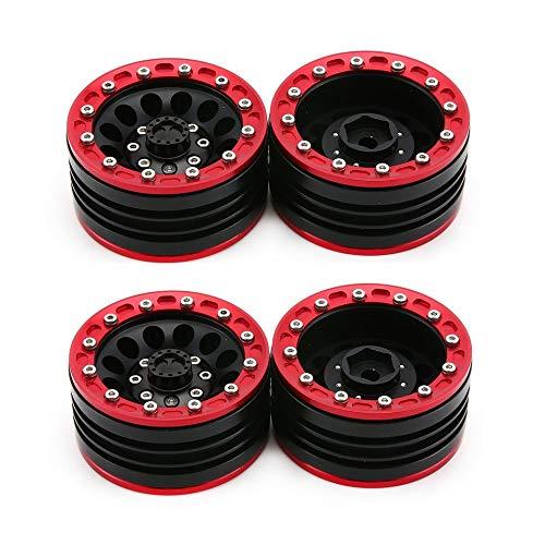 Petunia Cerchi in Lega di Alluminio 1.9 CJGLG0007 per 1//10 RC Crawler Car Axial SCX10 Rosso