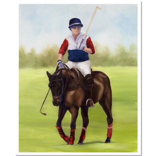 Michelle Moate Horse - Trademark Fine Art Horse of Sport VIII by Michelle Moate Canvas Wall Art, 36 by 48-Inch