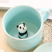 3D Coffee Mug Cute Cartoon Animal Ceramics Cup - Baby Animal Inside, Best Office Cup & Birthday Gift 8 OZ