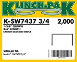 SW7437 Carton Closing Staple (10 Boxes Per Case) - AXXIS-K-SW7437-3/4