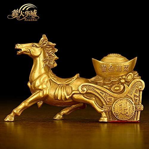 EBERMA 纯铜马上发财马拉黄金万两元宝开光马招财摆件家居风水装饰工艺品