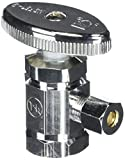 LASCO 06-7271 Angle Stop Valve, Standard Duty, 1/2-Inch Female Iron Pipe Inlet X 1/4-Inch Compression Outlet, Chrome