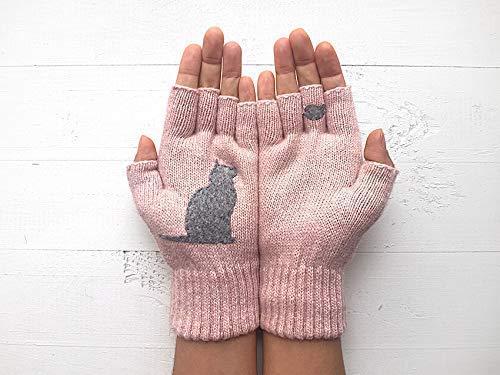 Winter Gloves Hand//Wrist Warmer leopard printed Women's Finger-less Gloves