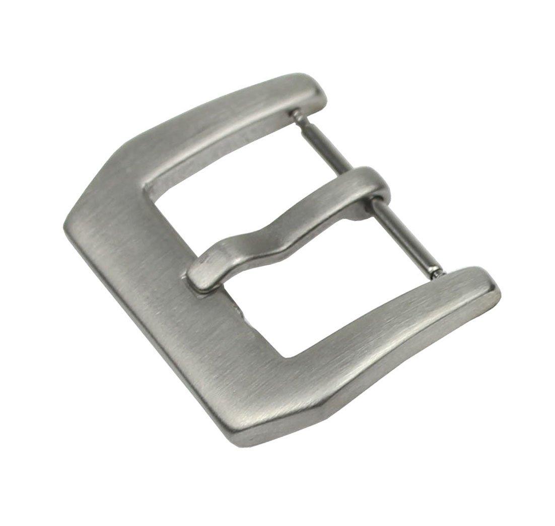 RECHEREステンレススチール時計バンドストラップ留めピンTangバックル18 mm 20 mm 22 mm 24 mm 18mm Silver(brushed) B01D9M7XN2 18mm|Silver(brushed) Silver(brushed) 18mm