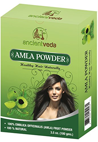 Amla Powder for hair and face, 100% Amla Fruit Powder, NO Fillers, 100% Natural, NO Chemicals & Preservatives - 7 Oz(Pack of 2 X 100 gms) - Ancient Veda ()