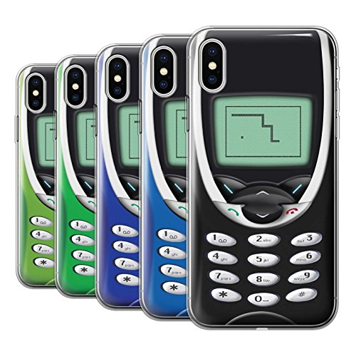 Stuff4 Gel TPU Hülle / Case für Apple iPhone X/10 / Nokia 8210 Multipack / Vintage Handys Kollektion