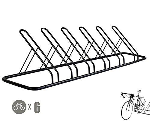 1 - 6 Bike Floor Parking Rack Storage Stand Bicycle